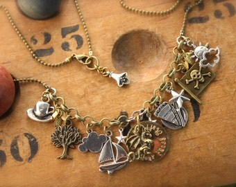 Puff the Magic Dragon Inspired Charm Necklace