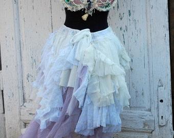 Skirt, victorian, steampunk, bridal, Jane Austen, Marie Antoinette, romantic goth, vampire wedding,alternative , bustle, faerie, women skirt