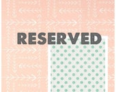 Reserved Listing for Kelcie