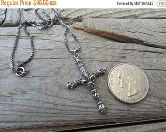 ON SALE Medieval sterling silver cross