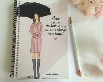 HOPE - Gifts for Friends -  Gifts - Gratitude Journal - -HOPE - Notebooks - Gifts for Women Teachers -
