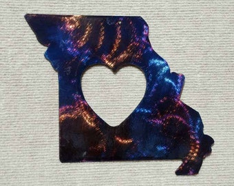 "Missouri State Metal Art with Heart - 8"""