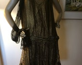 1940s Gold flapper dress Great Gaspe