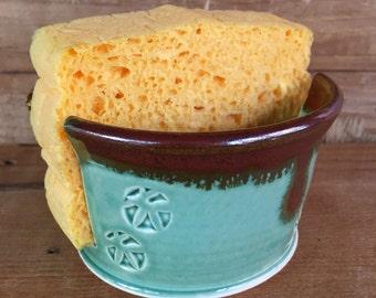 Sponge keeper, pottery sponge holder, handmade sponge keeper