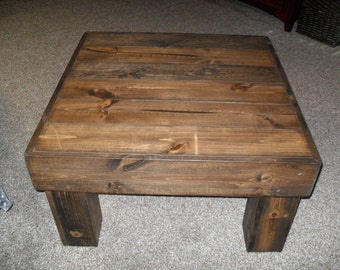 Walnut Color Square Coffee Table