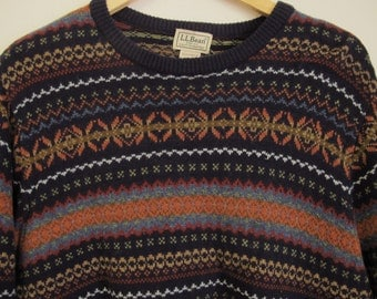 Fair isle sweater Knit black mohair sweater Alpaca fair isle