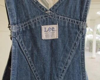 Vintage Lee Overalls 1950s American-Made Distressed Denim Overalls Farmer Work Clothes Theatre Film Wardrobe Slim & Tall Overalls