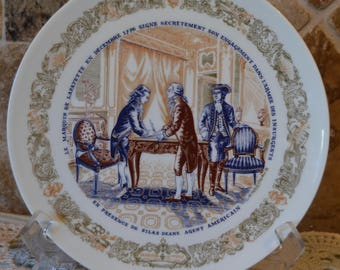"Beautiful De Limoges Premeire Edition Collector Plate~1973~No 354~8 1/4"" Diameter"