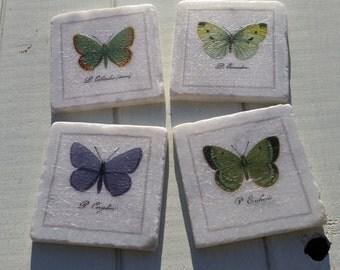 Butterflies Marble Coaster Set of 4 Tea Coffee Beer Coasters