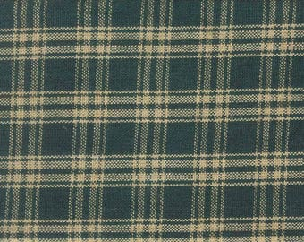 Primitive Green Homespun Fabric - Sewing Fabric- Craft Supplies-