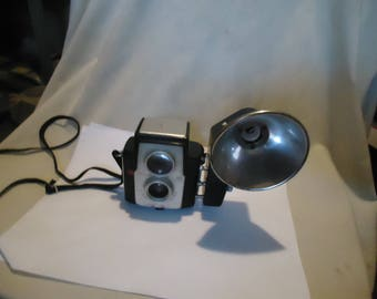 Vintage Kodak Brownie Starflex Camera With Flash Attachment, collectable