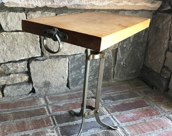 Industial Chic Small End Table