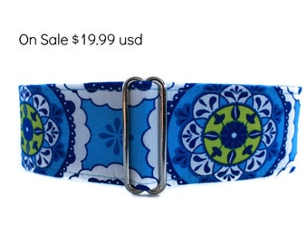2 Inch Martingale Collar, Blue Martingale Collar, Blue Dog Collar, Greyhound Collar, Whippet Collar, Electric Blue, Dog Collars on Sale