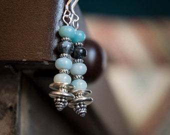 Earrings Amazonite and Silver