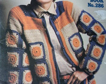 More Granny Squares Coats & Clark Book No. 286 1980 vintage out of print crochet pattern book