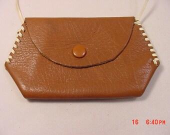 Vintage Leather Change Coin Purse Or Little Girl's Handbag  17 - 353