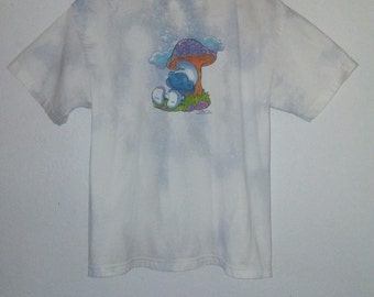 1999 / Smurf TShirt / Mushroom /Cartoon/Graphic/ Psychedelic / Trippy / Retro / 90s / Indie / Grunge / Rocker / Rave / Unisex / Women / Men