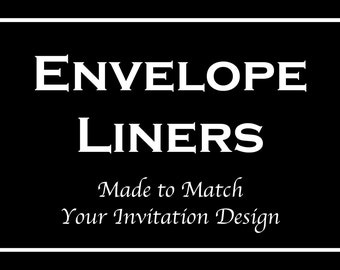 Envelope Liners - Made to Match our Bar and Bat Mitzvah Invitations, Sweet 16, Wedding or Quinceanera Themes