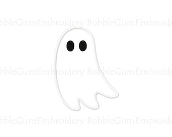 Ghost Applique Embroidery Design Instant Download