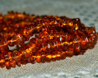 Baltic Amber Beads Small Meduim Chips 4-9mm Natural Gemstone Three 16 inches strand