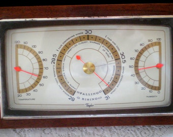 Vintage Taylor Barometer with Mahognay