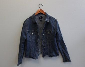 Vintage Denim Jean Jacket By Faconnable