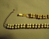 Vintage Faux Pearl Choker Necklace & Bracelet Set 9057