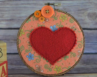orange heart hoop