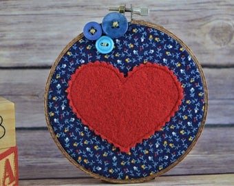 blue heart hoop
