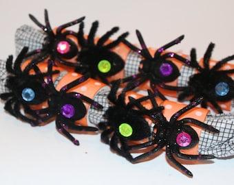 Halloween Furry Spider Napkin Rings Set of 8 Parties