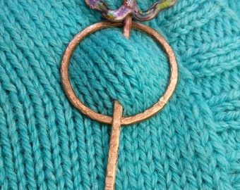 Enameled Shawl Pin for sweaters, shawls, other knitwear