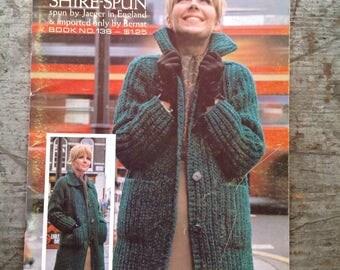 Vintage 1966 Bernat Yarn Shire-Spun Knitting Pattern Book 138