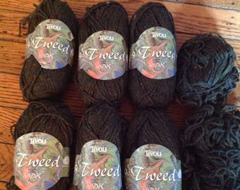 Vintage Tivoli Irish Wool Rweed Yarn Skeins 6 Plus x 50 grams each