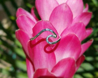 Wave Ring Sterling Silver Made in Hawaii Mahina Spirit