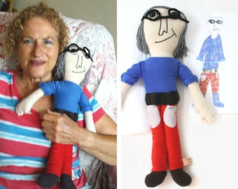 Personalized doll Custom toy stuffed animal. turn drawings or a picture into real plush doll