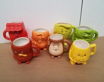 Set of 7 Actos Pharmaceutical Advertising Mugs