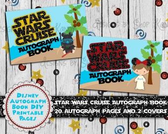 Disney Autograph Book - Star Wars Cruise Autograph Book - Disney Cruise Autograph Book - Disney Autograph Pages - DIY Autograph Album