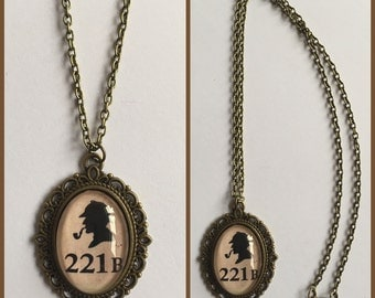 Sherlock Holmes Inspired Cameo Necklace
