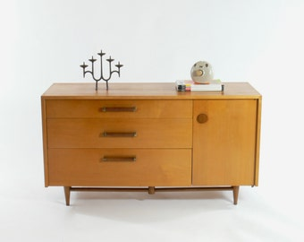 HOLD ON-Merton Gershun Urban Suburban for American of Martinsville Credenza // Sideboard // Buffet