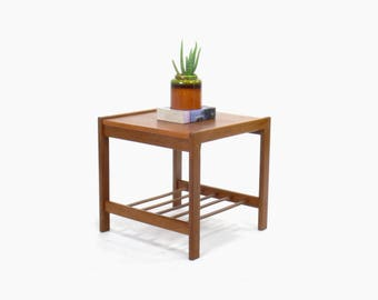 Danish Modern Teak End Table, Side Table