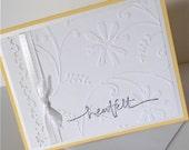 Sympathy Greeting Card: Handmade Blank Note Card - Field of Flowers