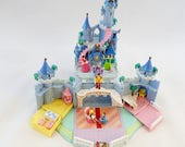 Polly Pocket Bluebird Cinderella Castle Blue Version With Figures 1995 90s Retro Miniature Compact Toy case