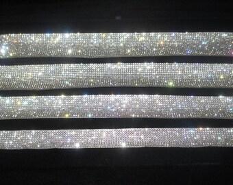Crystal Choker Necklace, genuine crystal rhinestone ribbon choker, Sparkly Trendy, CELEBRITY INSPIRED, Bridal, Party, Disco