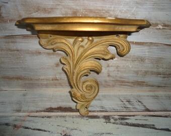 Vintage Syroco Wood Wall Shelf