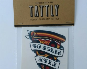 Slice of Life - Pepperoni Pizza - Temporary Tattoos by Tattly, Image Transfers - Set of 2