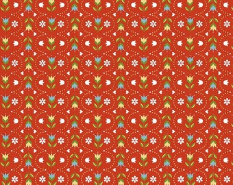 Riley Blake Designs Dutch Treat Dutch Stripe Red Fabric  - 1 yard