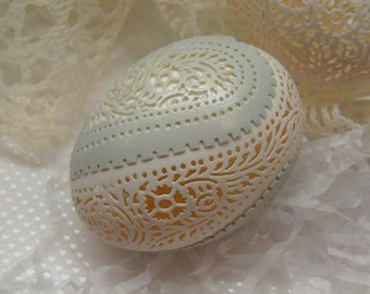 Carved Peek-a-boo Lace Duck Egg
