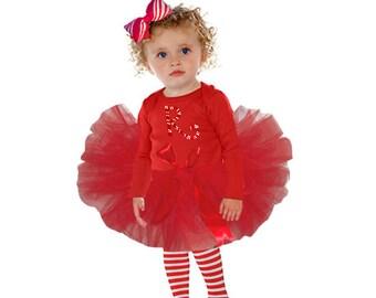 Christmas Tutu Set, Christmas Tutu, Peppermint Tutu Set, Candy Cane Tutu Set, Red Tutu, Toddler Christmas Tutu, Christmas Baby Tutu