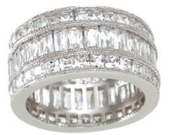 Silver ring Sterling ring zirconium ring