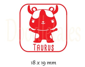 Horoscope Taurus 2 (Rubber Stamp)